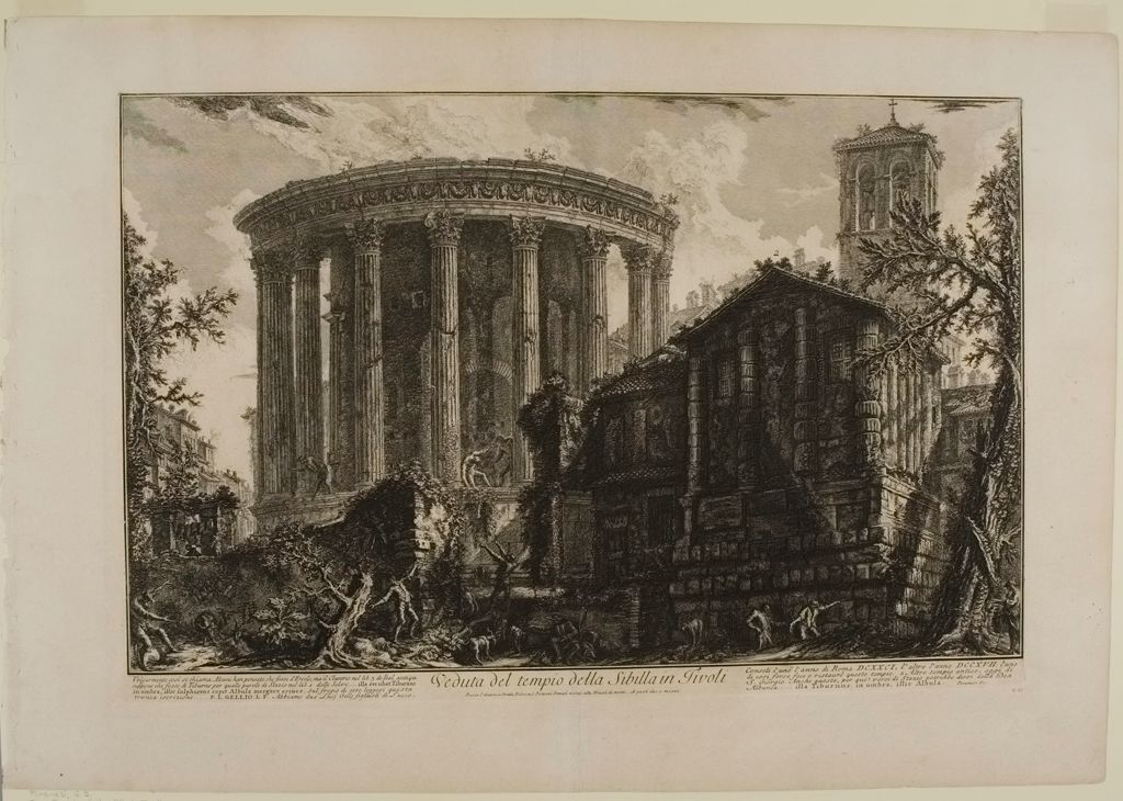 The Temple Of The Sibyl, Tivoli, With Another Temple R., Once Used As The Church Of S. Giorgio