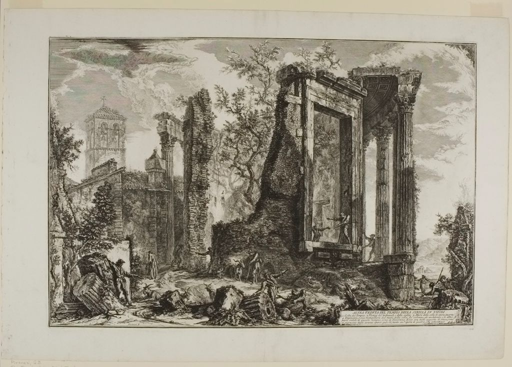 The Temple Of The Sibyl, Tivoli: The Broken Side Of The Colonnade