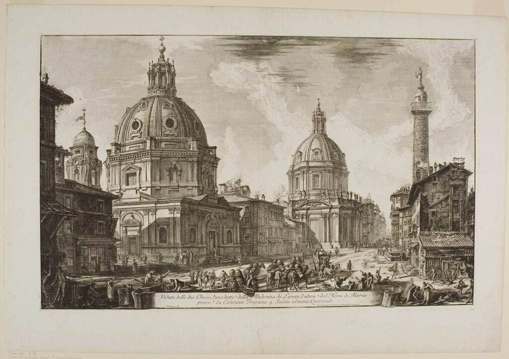 Two Churches Near Trajan's Column, S. Maria Di Loreto And Santissimo Nome Di Maria