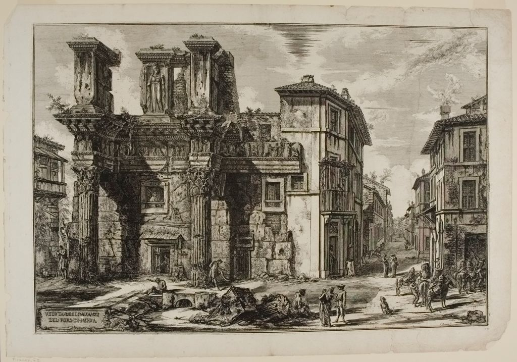 The Forum Of Nerva; With The Two Half-Buried Corinthian Columns