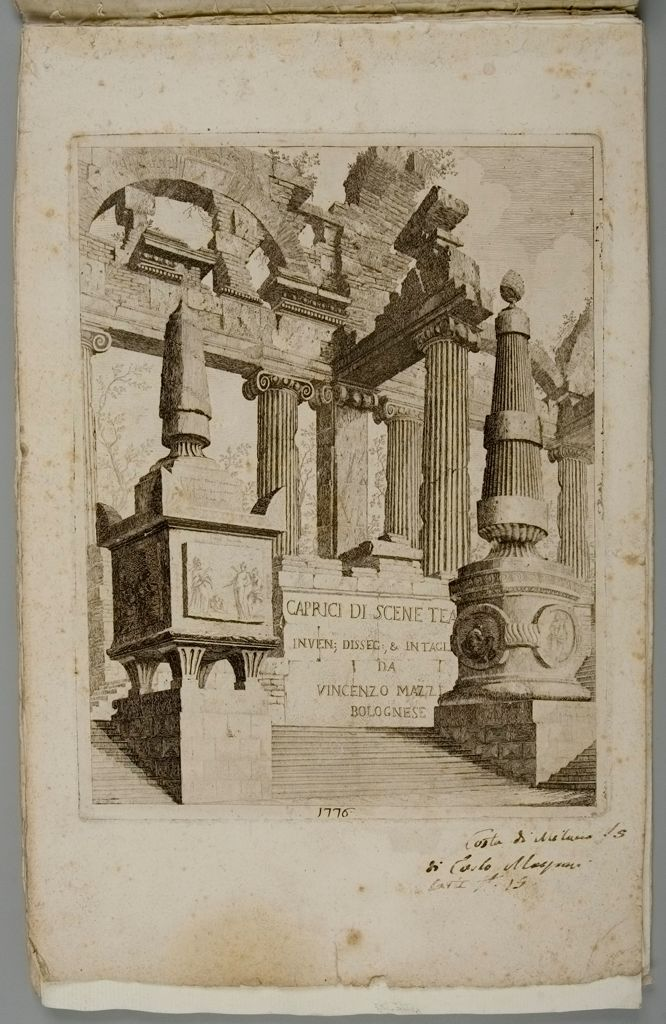 Frontispiece With Ionic Columns