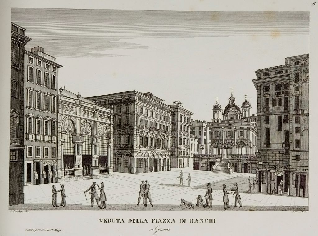 View Of The Piazza Di Banchi