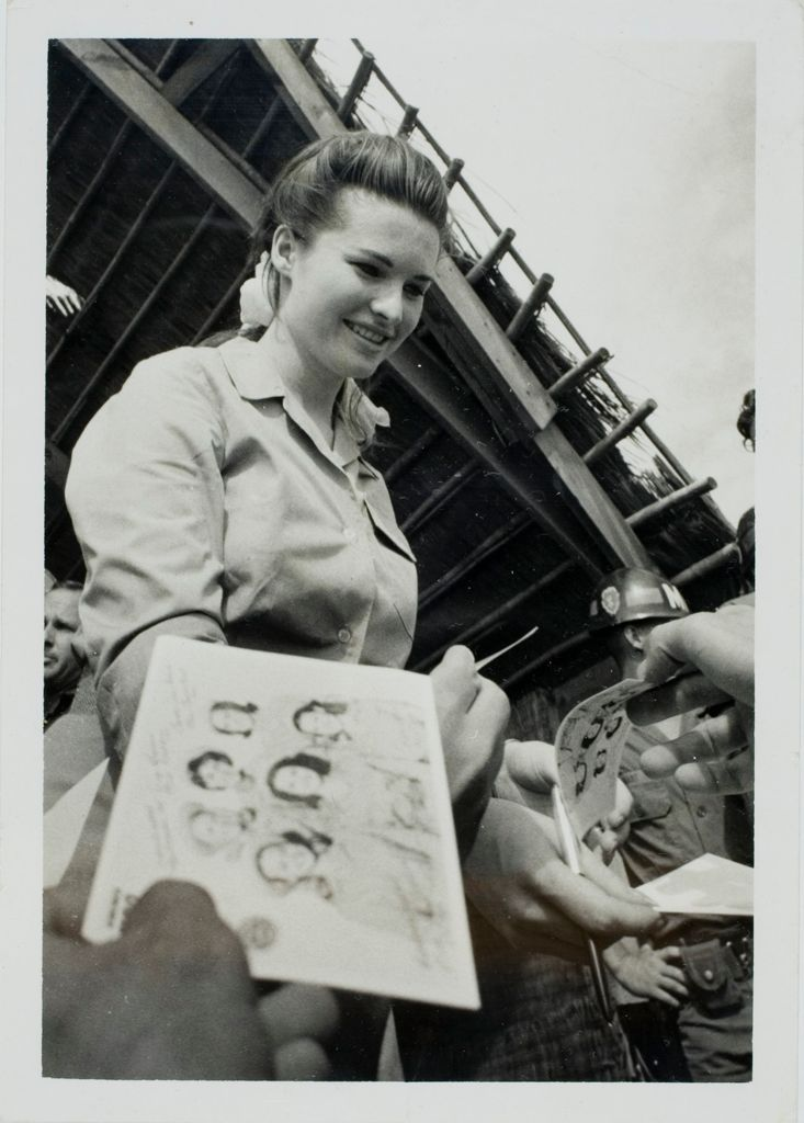 Untitled (Miss America 1967, Jayne Anne Jayroe, Signing Autographs For Troops In Cu Chi During