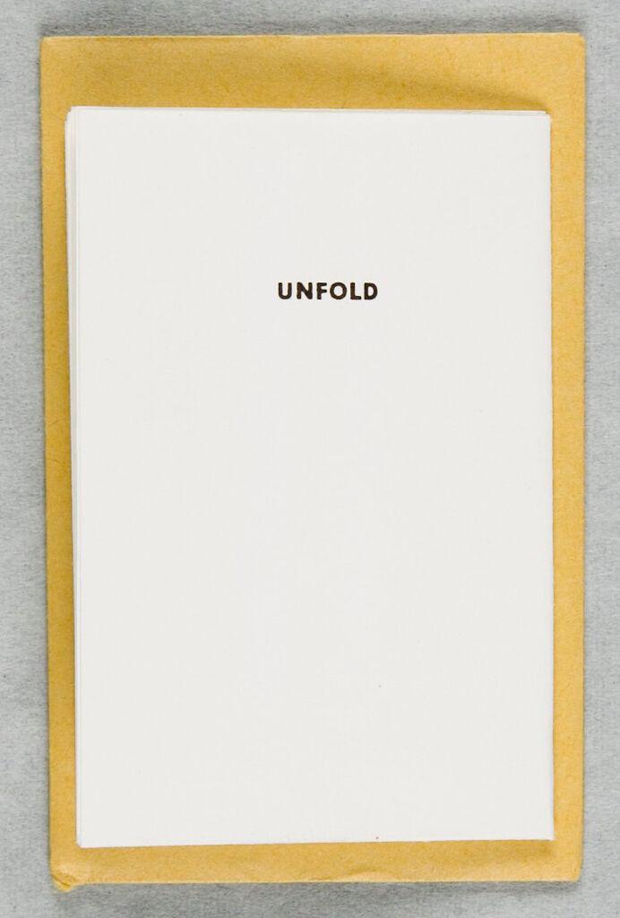 Fold/unfold (Gesture Piece)