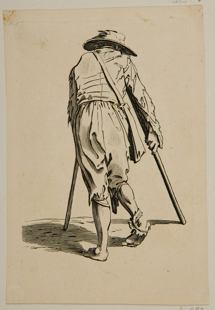 Beggar On Crutches, Seen From The Rear