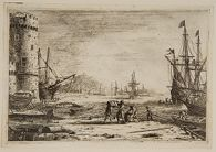 Seaport, With a Large Tower