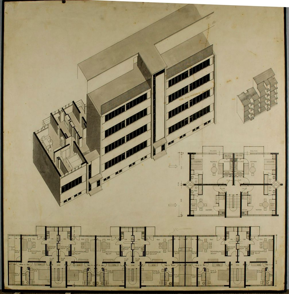 from the harvard art museums collections competition entry for model housing development. Black Bedroom Furniture Sets. Home Design Ideas