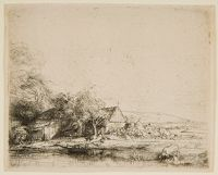 Landscape With A Cow Drinking