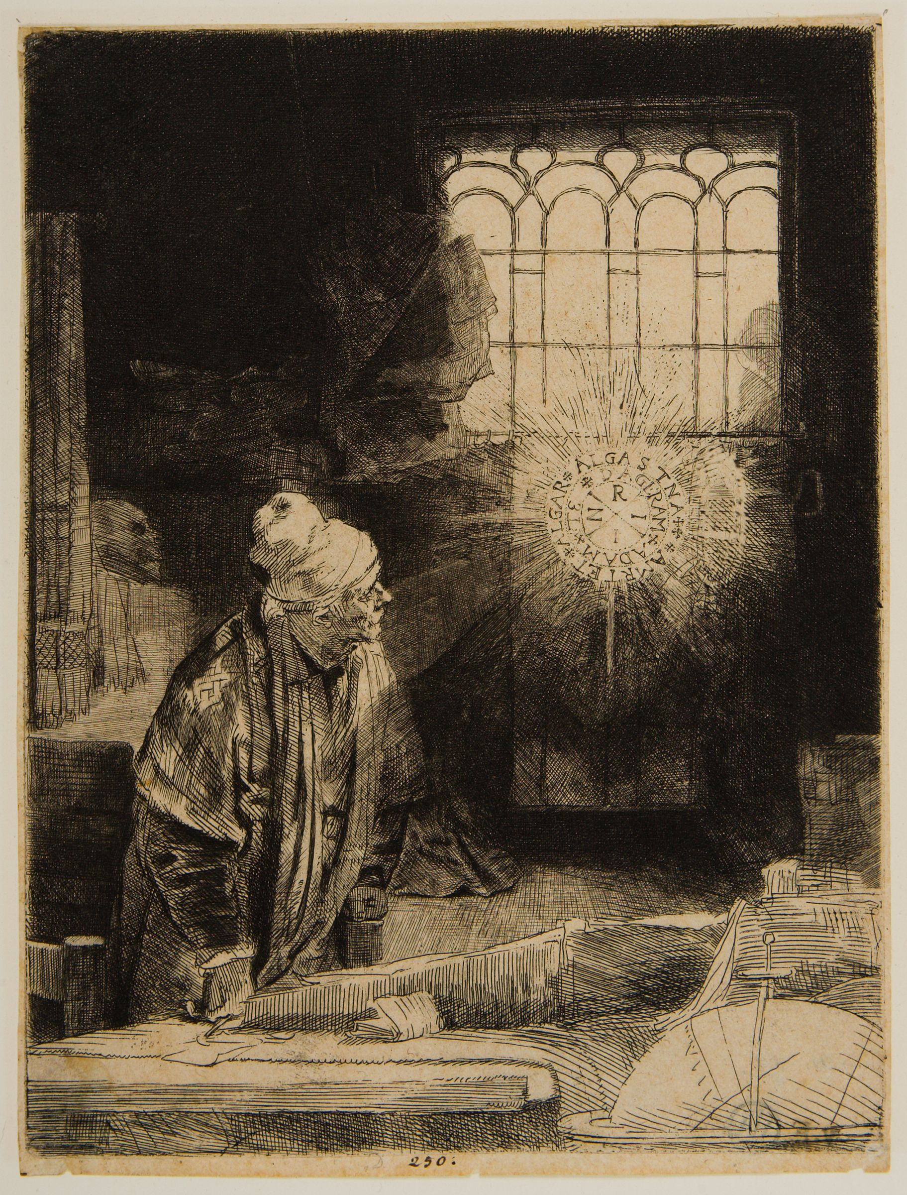 Faust In His Study, Watching A Magic Disk