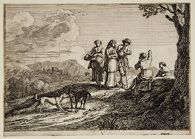 Travelers with Two Dogs
