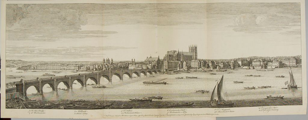 View Of The New Bridge And Westminster Abby, View From Mr. Scheve's Sugar House