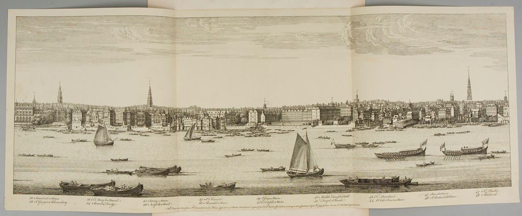 View Of London From Somerset House To Bridwel, From Mr. Everard's Summer House Opposite To St. Bride's Church
