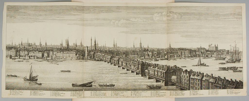 View Of London Bridge, From The West Leads Of St. Mary Overy's Church In Southwark