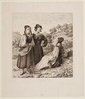Three Peasant Girls from Gosfelden near Marburg