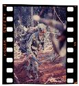 Untitled (Soldier In Combat Gear Walking Through Clearing, Central Highlands Near Dak To, Vietnam)