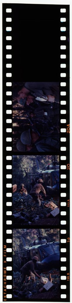 Untitled (Soldiers And Helicopter Delivering Supplies, Central Highlands Near Dak To, Vietnam)