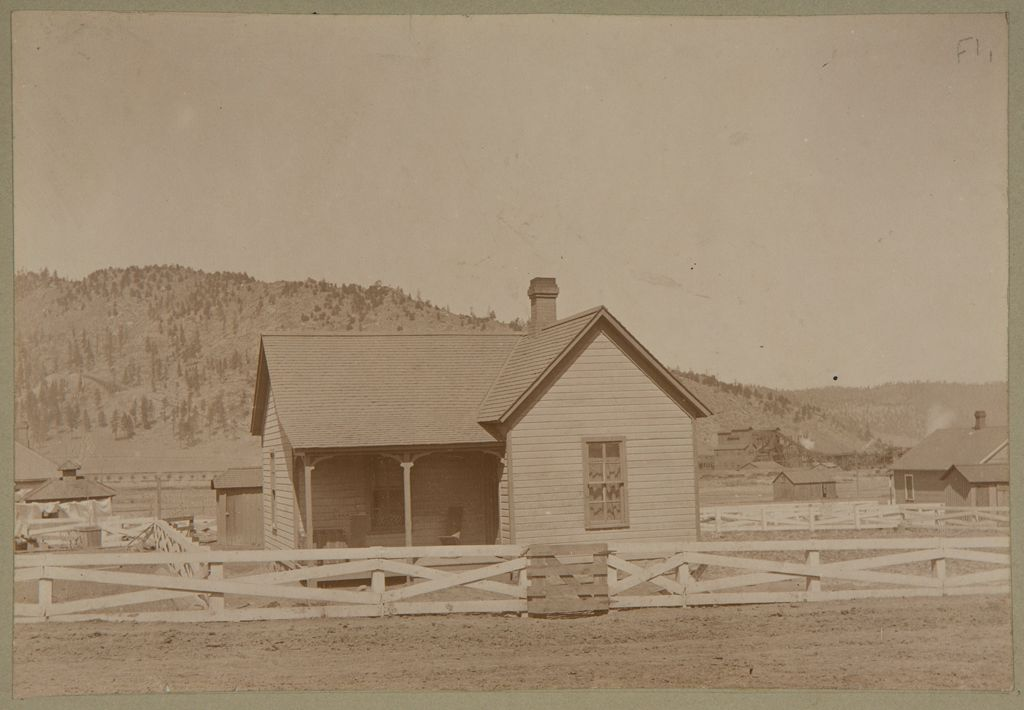 Industrial Problems, Welfare Work: United States. Colorado. Pueblo. Colorado Fuel And Iron Company: Colorado Fuel And Iron Company: Tercio, Col., A Coal Camp; 3 Room Cottage. Built 1900. Rent $6 Per Month.