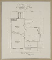 Industrial Problems, Welfare Work: United States. Illinois. Leclaire. Nelson Manufacturing Company: Industrial Betterment in the United States. Housing of Working People by Employers: N.O. Nelson Manufacturing Company, Leclaire, Illinois.: House owned by employee.