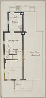 Industrial Problems, Welfare Work: United States. Maryland. Sparrow's Point. Maryland Steel Company: Industrial Betterment In The United States. Housing Of Working People By Employers: Maryland Steel Company, Sparrow's Point, Maryland. House For Employees. Plan F.: First Floor.