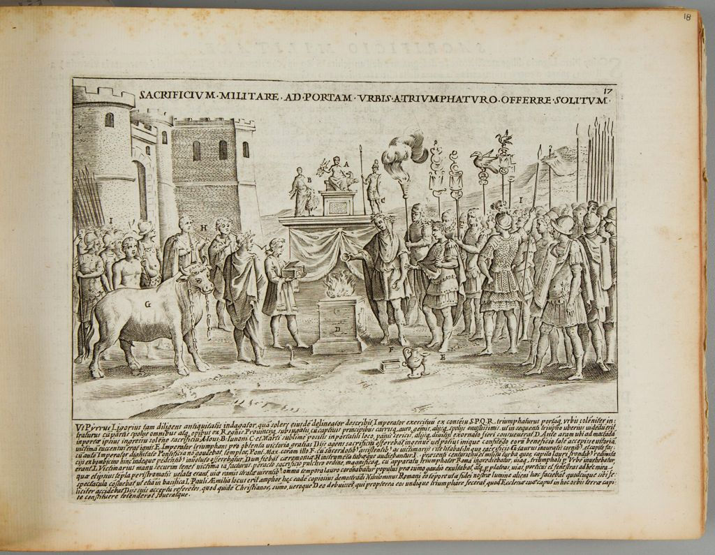 The Customary Sacrifice Offered By The Military At The Triumphal Gate Of The City