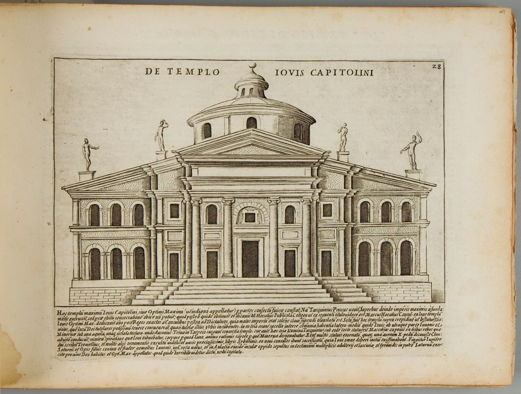 The Temple Of Jove On The Capitoline