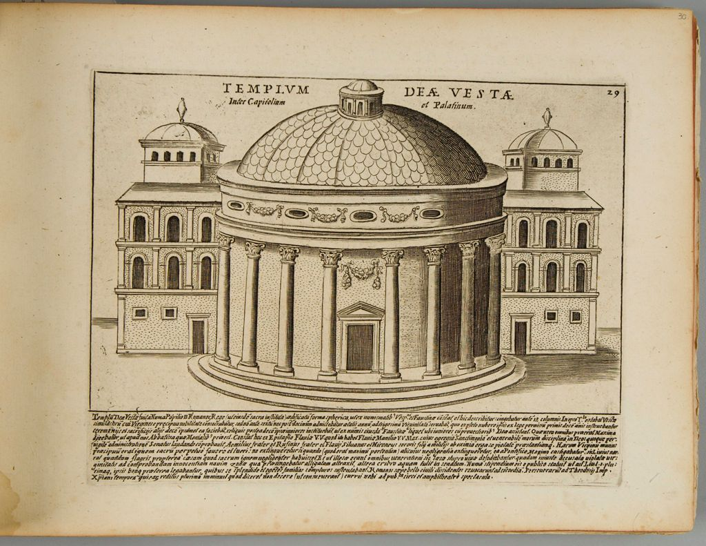 The Temple Of Vesta Between The Capitoline And Palatine