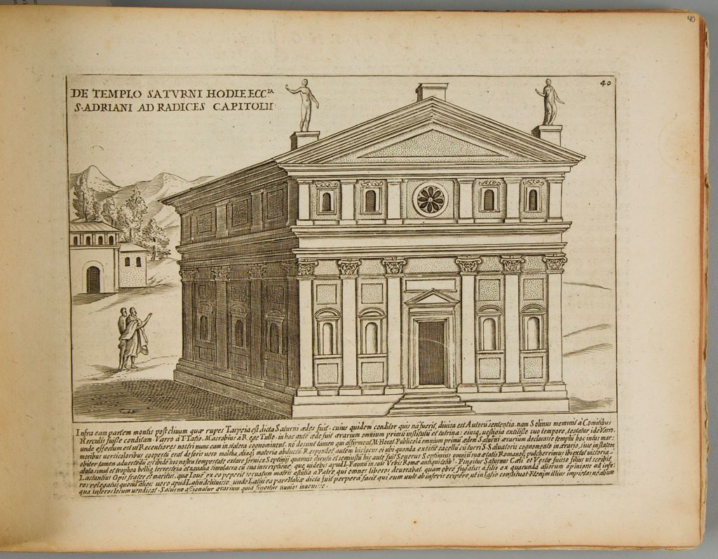 The Temple Of Saturn, Now The Church Of St. Adrian At The Foot Of The Capitoline Hill