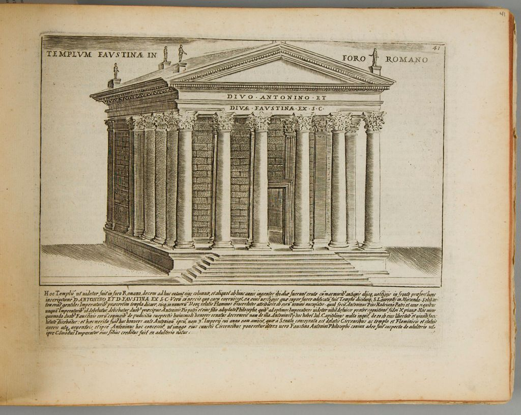 The Temple Of Faustina In The Roman Forum