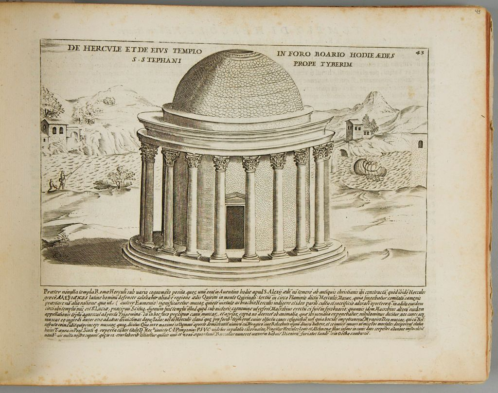 The Temple Of Hercules In The Boarian Forum, Now The Church Of St. Stephen On The Tiber