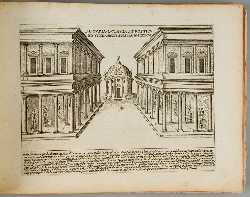 The Senate House And Portico Of Octavius (Augustus)
