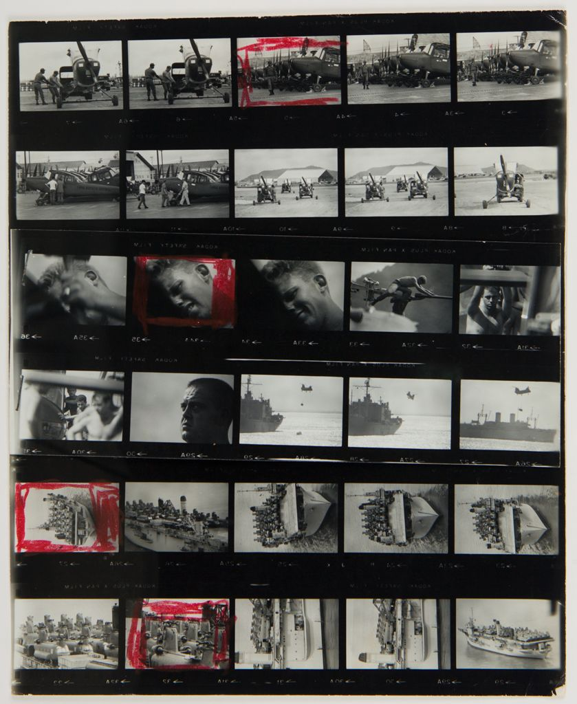 Untitled (Airfield; Soldiers Working On Planes; Aircraft Carrier, Vietnam)