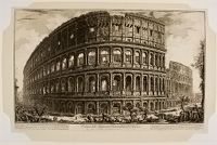 View Of The Flavian Amphitheater Called The Colosseum