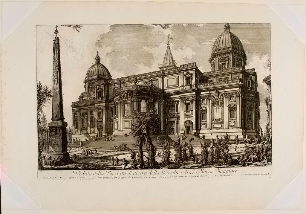View Of The Rear Facade Of The Basilica Of Sta. Maria Maggiore