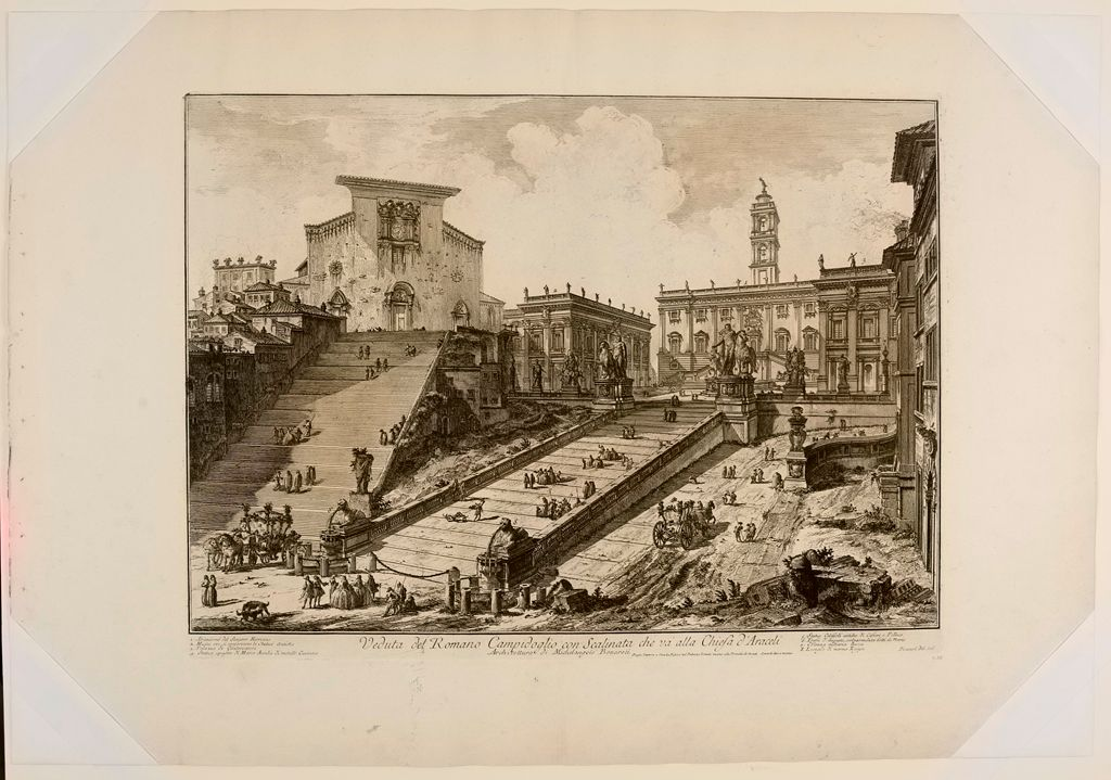 The Capitol And The Steps Of S. Maria In Aracoeli