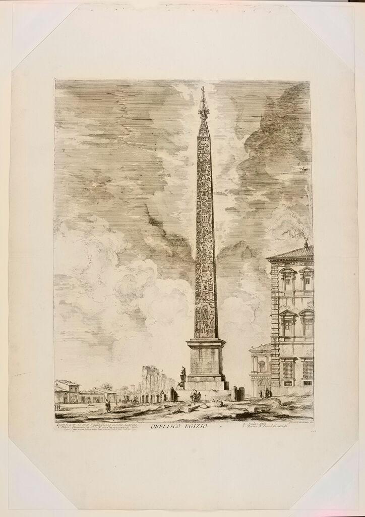 The Egyptian Obelisk In The Piazze Di S. Giovanni Laterano