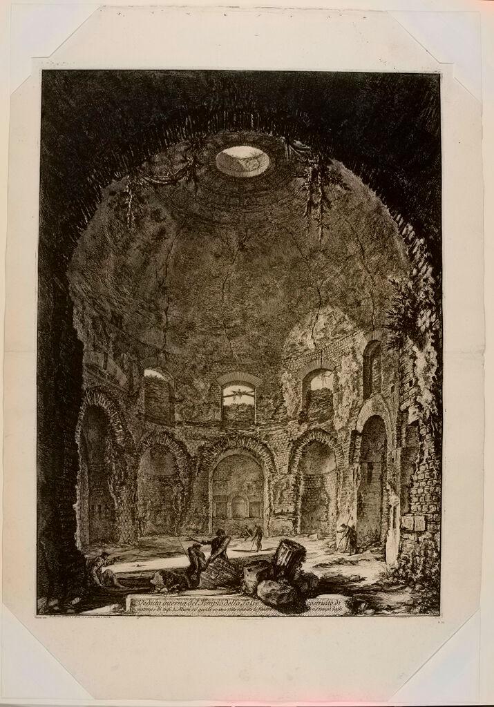 The So-Called Tempio Della Tosse, Near Tivoli. Interior. Upright.