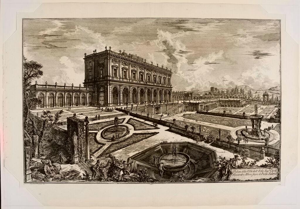 View Of The Villa Of His Eminence Cardinal Alessandro Albani, Outside Porte Salaria