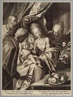 Holy Family With St Anne and Two Angels