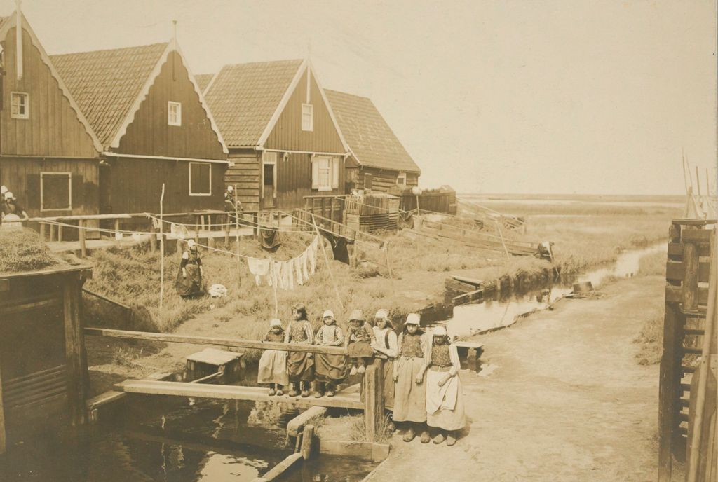 Social Conditions, General: Holland. Isle Of Marken: Social Conditions In Holland, 1903: Isle Of Marken.: Fisher Maidens.