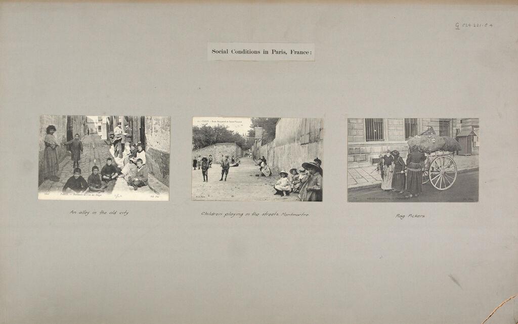 Social Conditions, General: France. Paris: Social Conditions In Paris, France: