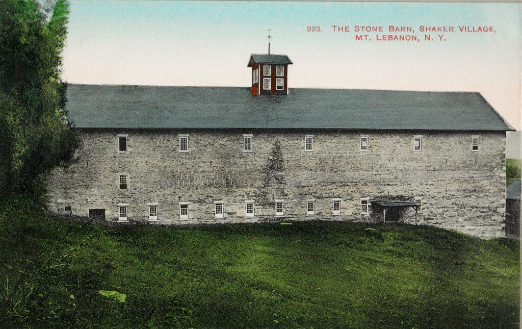 Social Revolution (?): United States. New York. Mt. Lebanon. Shaker Communities: Shaker Communities, United States: 993. The Stone Barn, Shaker Village, Mt. Lebanon, N.y.