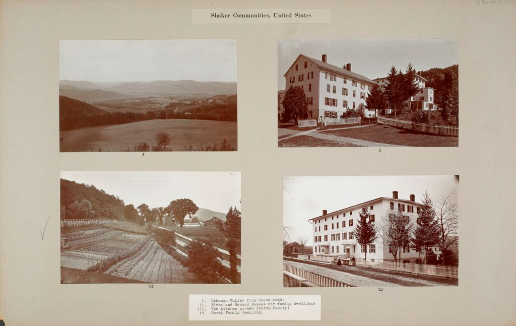 Social Revolution (?): United States. New York. Mt. Lebanon. Shaker Communities: Shaker Communities, United States