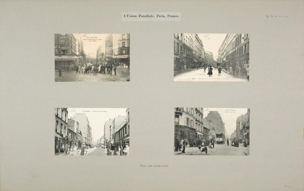 Social Settlements: France. Paris. L'union Familiale: L'union Familiale, Paris, France.: Rue De Charonne