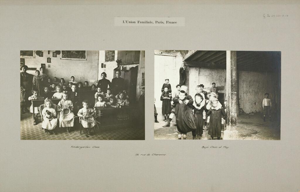 Social Settlements: France. Paris. L'union Familiale: L'union Familiale, Paris, France: 172 Rue De Charonne.