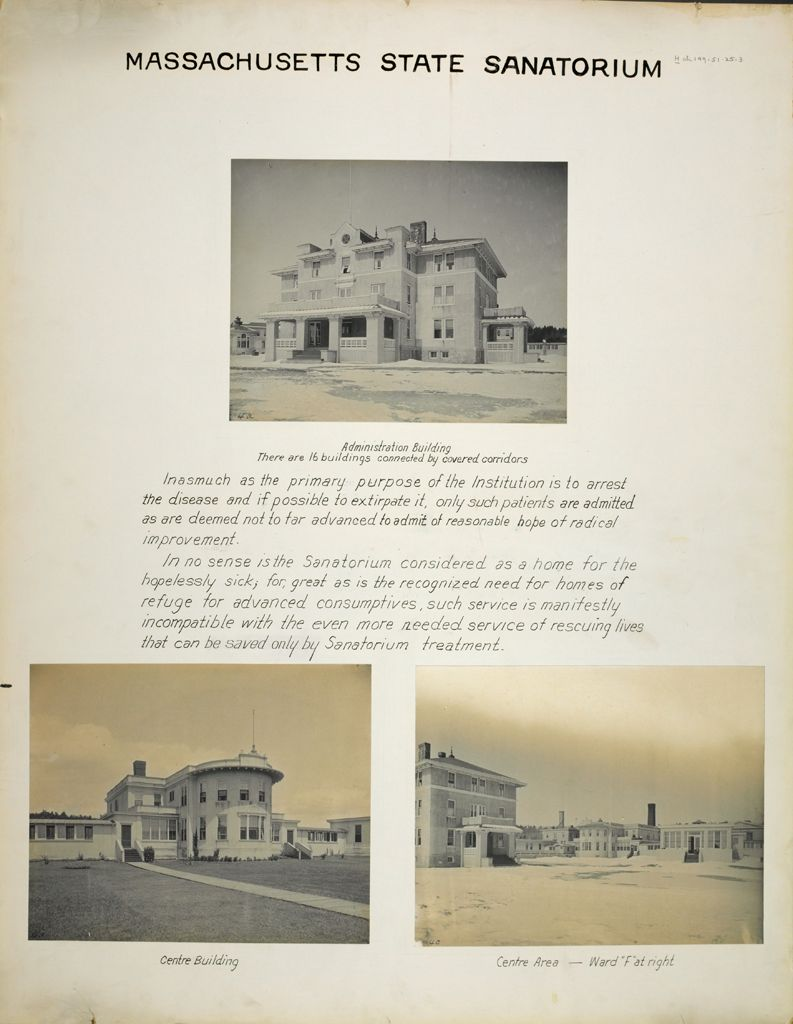 Charity, Tuberculosis: United States. Massachusetts. Rutland. Massachusetts State Sanatorium: Massachusetts State Sanatorium