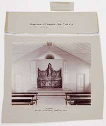 Crime, Prisons: United States. New York. Riker's Island. Branch Workhouse: Department of Correction, New York City: Chapel. Branch Workhouse, Riker's Island..   Social Museum Collection
