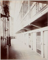 """Crime, Prisons: United States. New York. New York City. """"The Tombs"""": Department of Correction, New York City: City Prison (""""The Tombs""""), Manhattan.: Tier """"A""""..   Social Museum Collection"""
