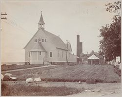 Crime, Prisons: United States. New York. Hart's Island. Branch Workhouse: Department of Correction, New York City: Branch Workhouse, Hart's Island.: Catholic Chapel..   Social Museum Collection