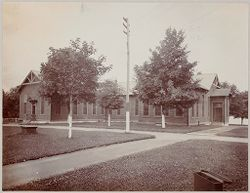 Crime, Prisons: United States. New York. Hart's Island. Branch Workhouse: Department of Correction, New York City: Branch Workhouse, Hart's Island.: Old Building..   Social Museum Collection