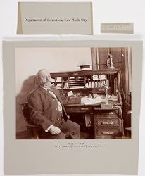"""Crime, Prisons: United States. New York. New York City. """"The Tombs"""": Department of Correction, New York City: The Warden. City Prison (""""The Tombs"""") Manhattan..   Social Museum Collection"""